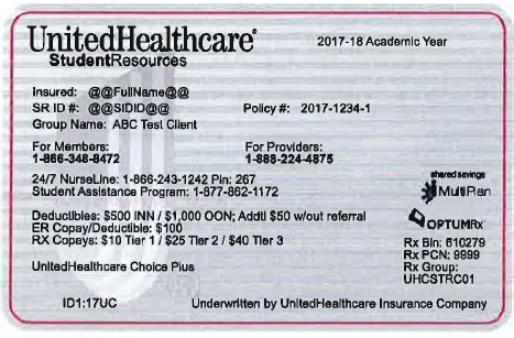 Sample health insurance id card. U-SHIP ID Card | Student Health and Counseling Services | The University of Chicago