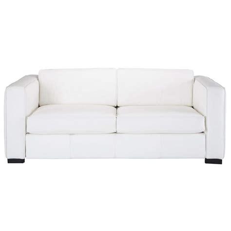 canap en blanc canapé convertible 3 places en cuir blanc berlin maisons