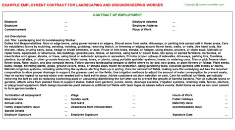 Groundskeeper Resume Description by Groundskeeper Cover Letters