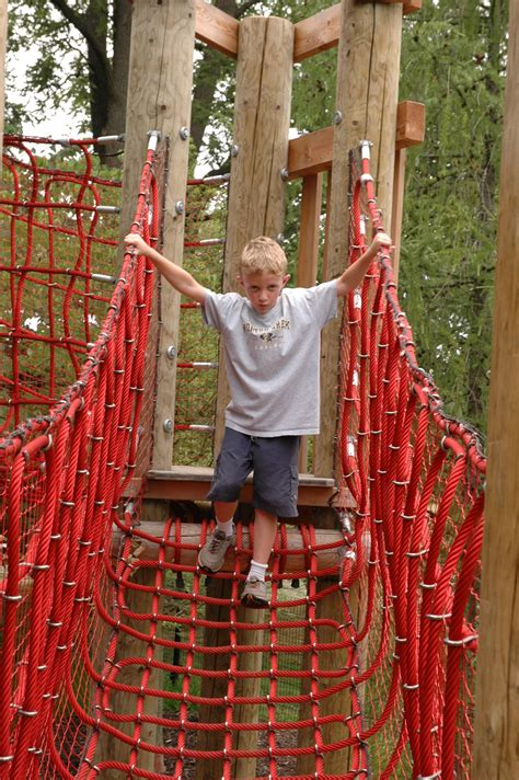 swing set for rope bridge nature play children s garden 5963