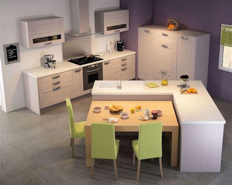 cuisine ilot central table manger cuisine design intéressant comme configuration mais