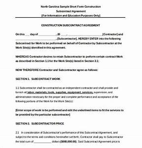 subcontractor agreement template 16 free word pdf With contract for subcontractors template