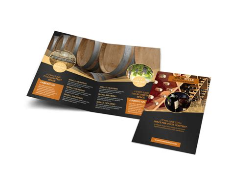 wine  bi fold brochure template
