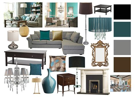 Teal Gold Living Room Ideas by Living Room Mood Boards On Behance