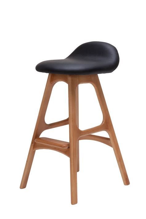 Furniture Black Seat Unique Bar Stools With Wood Legs For