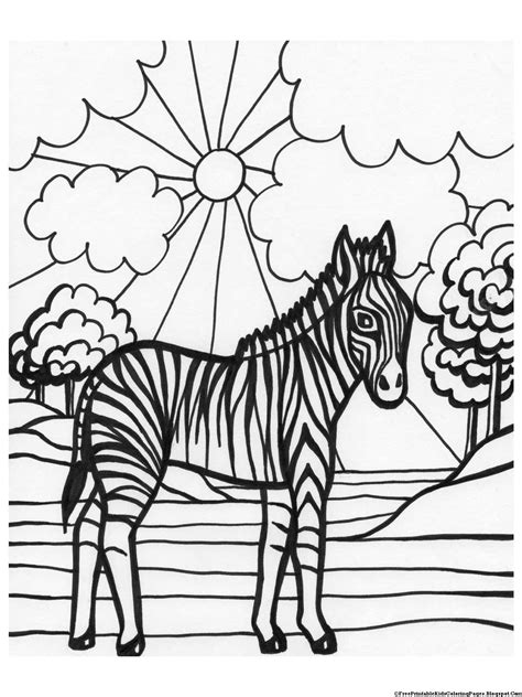 zebra coloring page zebra coloring pages free printable coloring pages