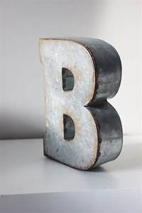 sale 4 large metal letter zinc steel initial home decor diy With large metal letters for sale