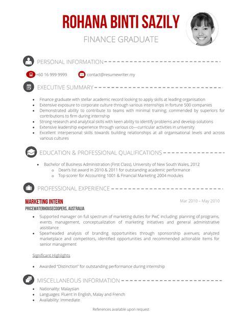 fresh graduate resume malaysia
