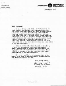 The 1970 hamtramck registry dealership letters 1967 for Cover letter for car dealership