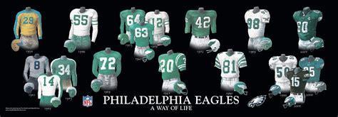 philadelphia eagles uniform  team history heritage
