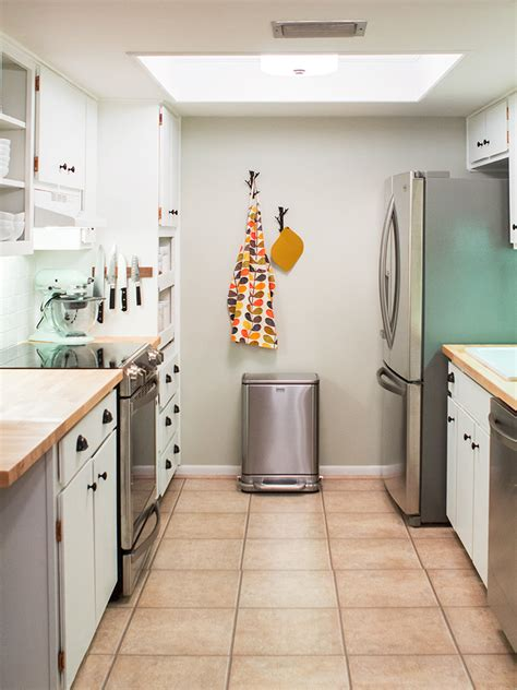 Small galley kitchen decorating ideas these days have become one of latest small home trends in preserving fine quality of cooking room space. DIY Small Galley Kitchen Remodel - Sarah Hearts