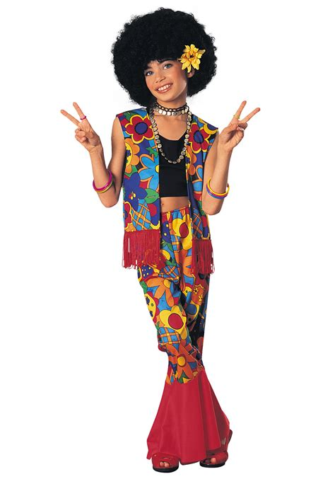peace flower child necklace flower power hippie costume