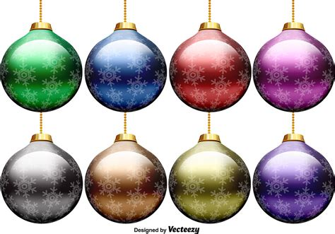vector set of christmas spheres download free vector art