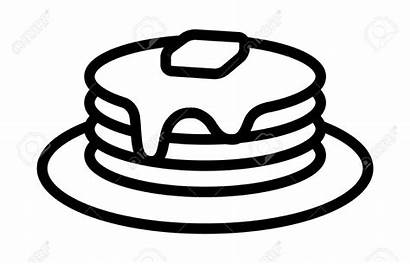 Breakfast Clipart Pancake Pancakes Plate Brunch Drawing
