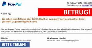 Bwin Party Services : warnung vor e mail mit best tigung ihrer zahlung an services austria gmbh mimikama ~ Markanthonyermac.com Haus und Dekorationen