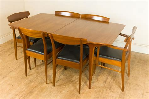 vintage retro mid century teak extending dining table and