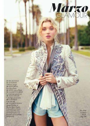 elsa hosk glamour spain magazine march  gotceleb