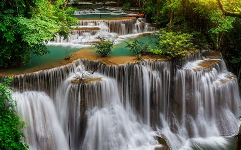 Thailand Waterfall Landscape Wallpapers Thailand