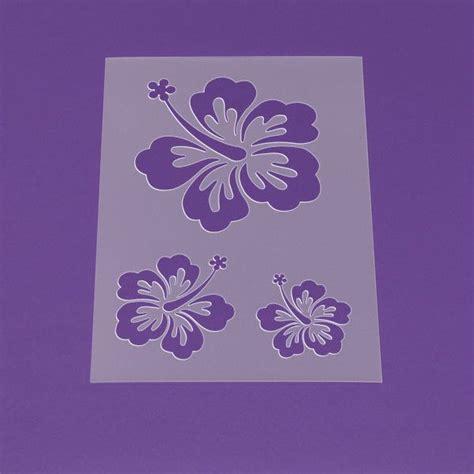 schablone  blume hibiskus bluete hawaii lm von