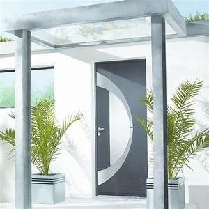 Insert Alu Pour Porte Intérieure : porte d 39 entr e aluminium parement ext rieur en inox bross atlantide zilten ~ Voncanada.com Idées de Décoration