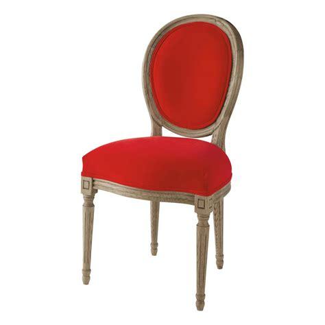 chaise louis maison du monde chaise médaillon en velours et chêne massif louis
