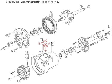 thesamba com gallery bosch al82 alternator exploded diagram