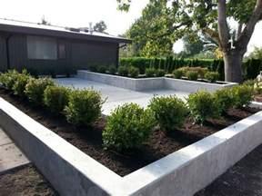 concrete patio and planters sublime garden design