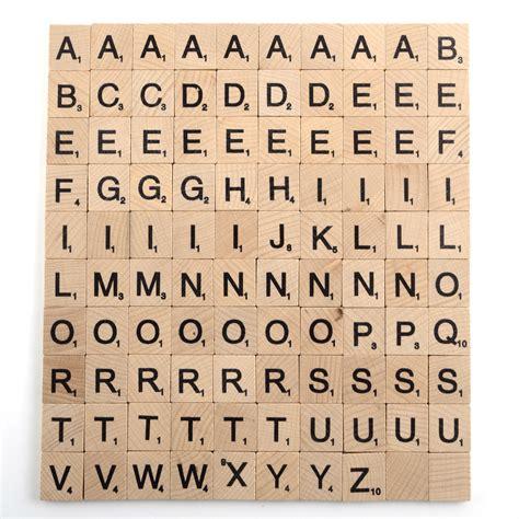 scrabble tile distribution uk 100 x high quality scrabble tiles letters tile craft 1
