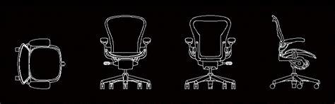 herman miller aeron chair in autocad drawing bibliocad