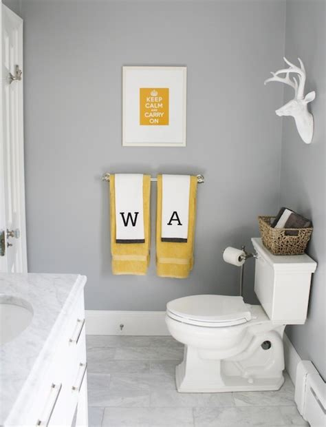Yellow Grey Bathroom Ideas by Marina Gray Contemporary Bathroom Benjamin