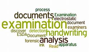 forensic science forensic science handwriting analysis With questioned document examination forensic