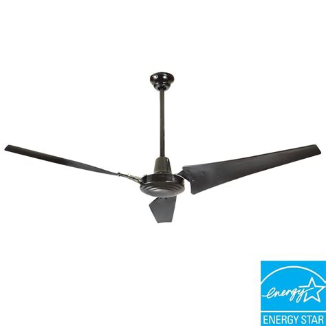 60 Inch Ceiling Fans Home Depot by Hton Bay 26629 Industrial 60 In Black Energy