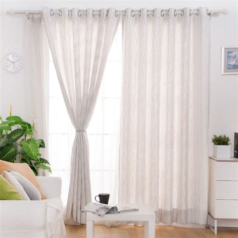 Window Curtains by White And Gray Office Window Curtains With Striped Lines