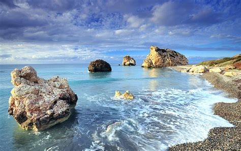 cyprus rock sea shores wallpapers hd wallpapers id