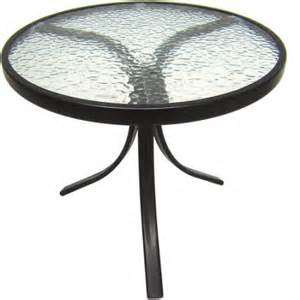 mainstays round outdoor glass top side table walmart com