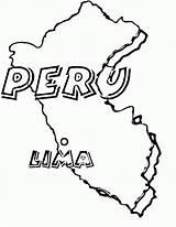 Coloring Peru sketch template
