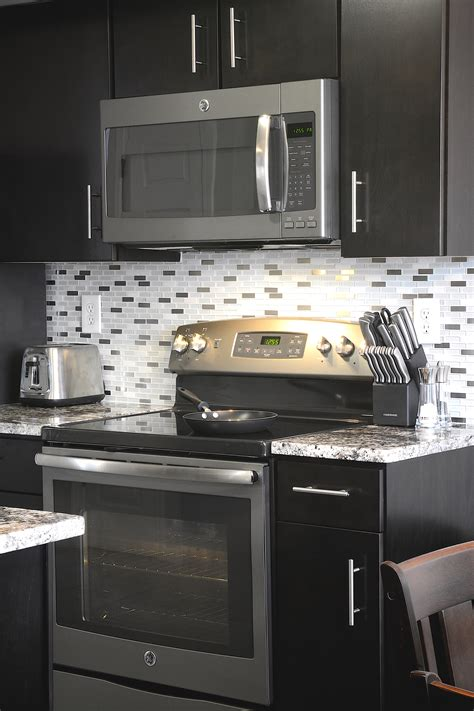 consumers  gray   stylish waywith ge slate kitchens ge appliances pressroom