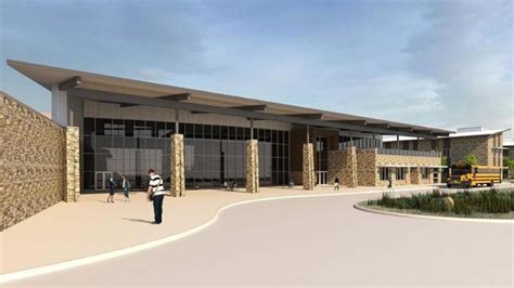 high school of and design trustees see design of new montgomery isd high school
