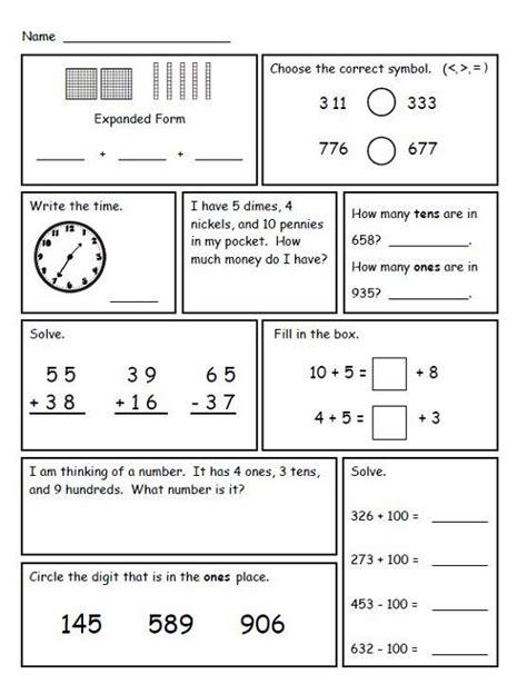 grade math worksheets  print learning printable