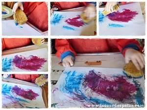 Eponge Pour Peindre : peindre avec b b la peinture magique la cour des petits ~ Preciouscoupons.com Idées de Décoration