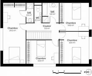 Plan Maison Tage Avec 4 Chambres Ooreka