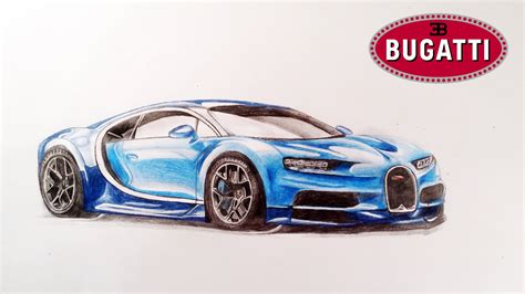 How to draw: Bugatti Chiron - YouTube