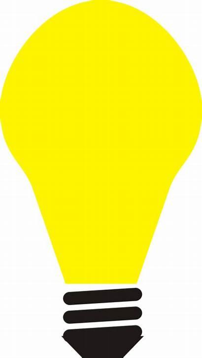 Clipart Lampu Bulp Bulb Clip Yellow Line