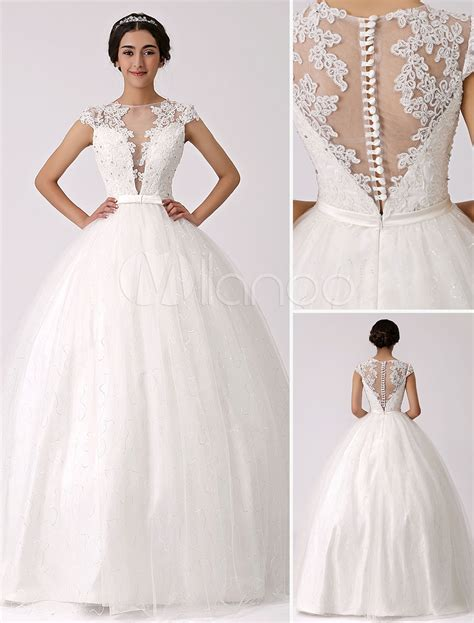 robe de chambre princesse illusion plunge neck princess wedding gown with sheer lace