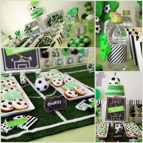 soccer themed birthday celebration birthday party ideas