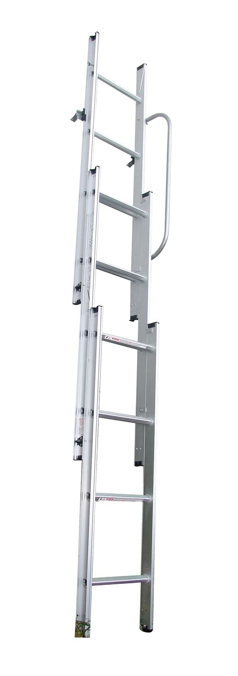 3 section 3m aluminium sliding loft attic extended ladder