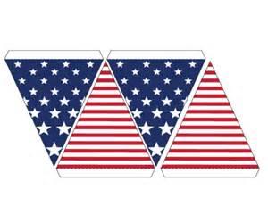 Printable American Flag Banner