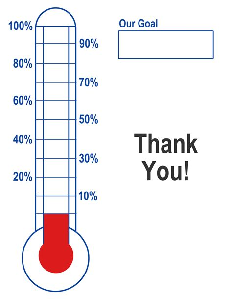 fundraising thermometer template thermometer template fundraising goal blank printable creative ways to make a fund