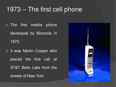 when did the cell phone come out the evolution of mobile phones