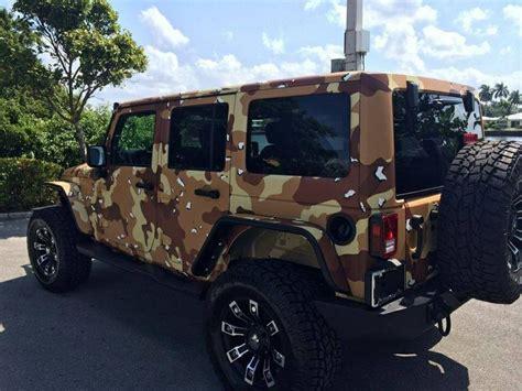 Chocolate Chip Desert Camo Jeep Wrangler Off Roading